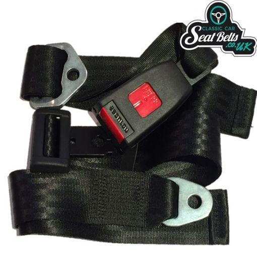 Two Point Static Lap Belt Kit 45cm Adjustable Buckle