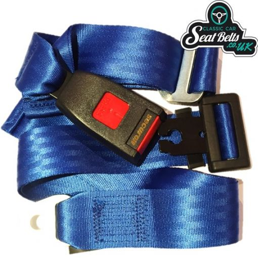 Three Point Static Front Seat Belt Kit 15cm Buckle