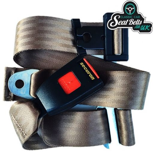 Three Point Static Front Seat Belt Kit 30cm Buckle
